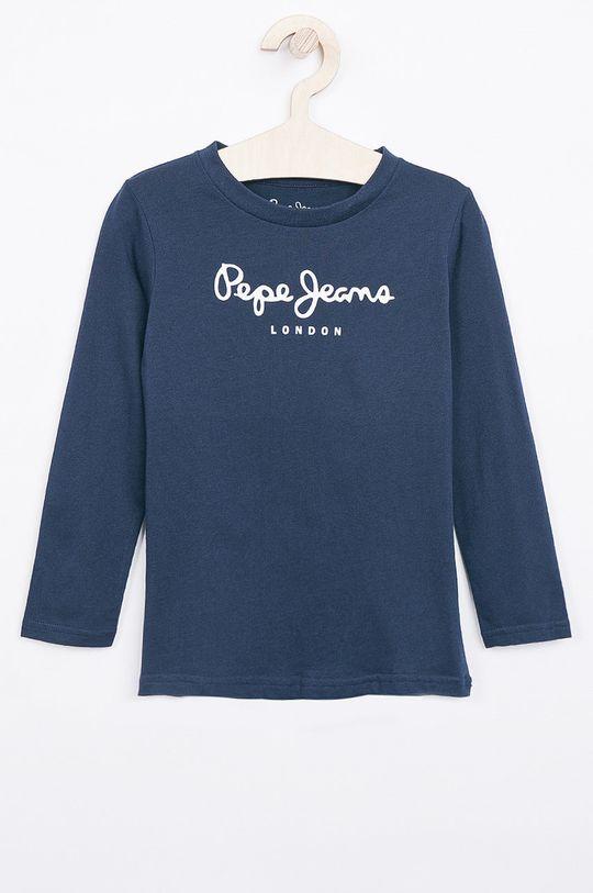 námořnická modř Pepe Jeans - Dětské tričko s dlouhým rukávem New Herman 92-180 cm Chlapecký