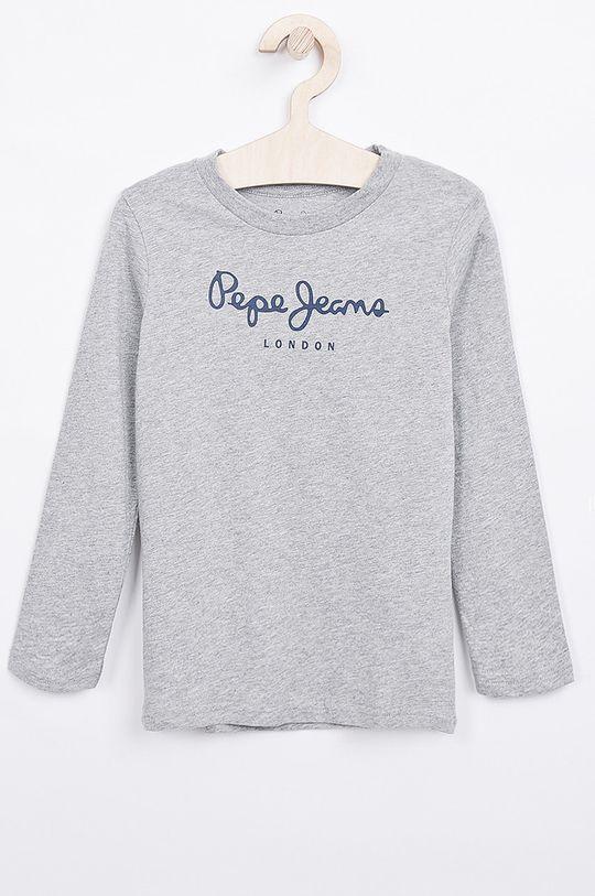 šedá Pepe Jeans - Dětské tričko s dlouhým rukávem New Herman 92-180 cm Chlapecký