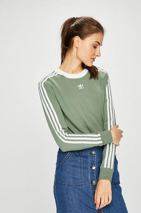 светла маслина adidas Originals - Блуза Жіночий