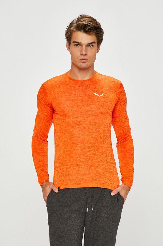 oranžová Salewa - Pánske tričko s dlhým rukávom Pánsky