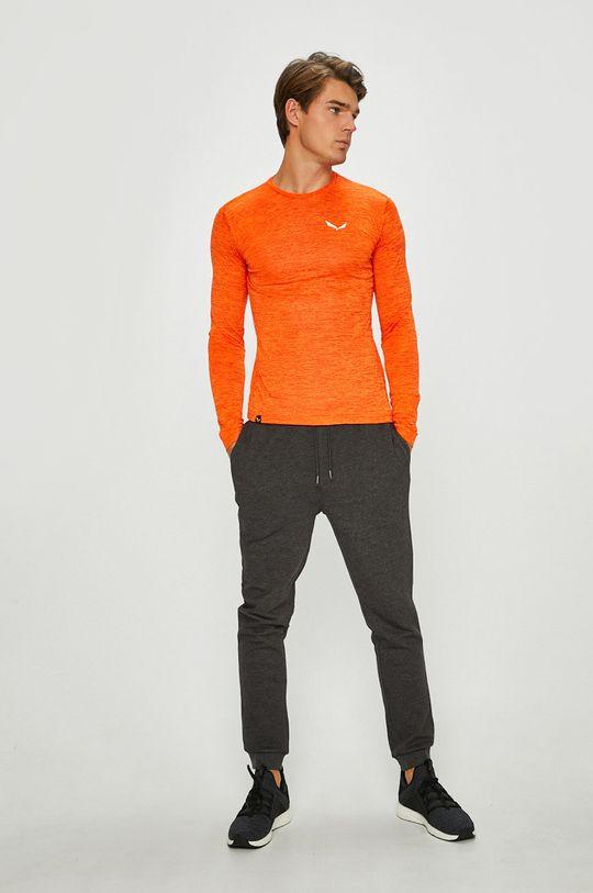 Salewa - Pánske tričko s dlhým rukávom oranžová