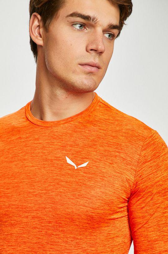oranžová Salewa - Pánske tričko s dlhým rukávom