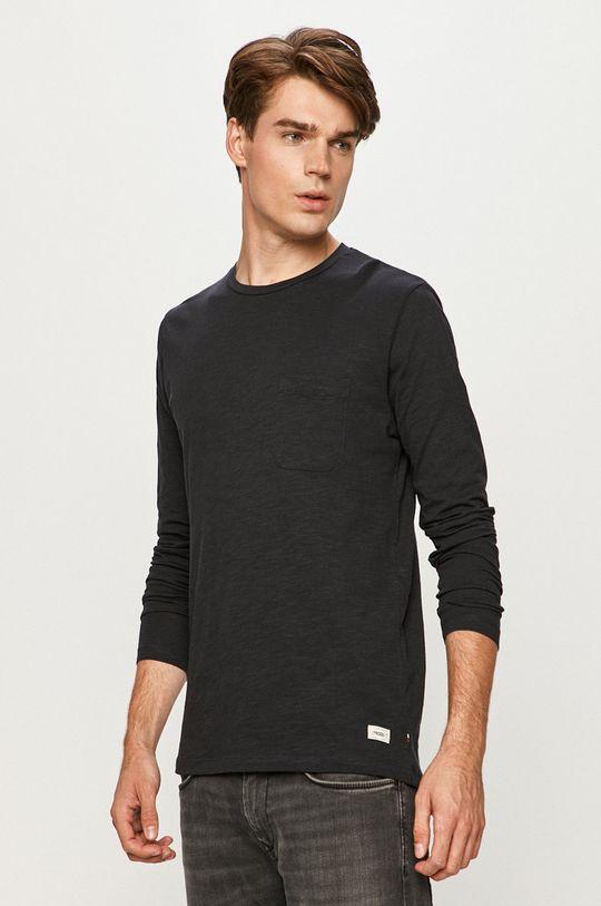 tmavomodrá Produkt by Jack & Jones - Tričko s dlhým rukávom Pánsky