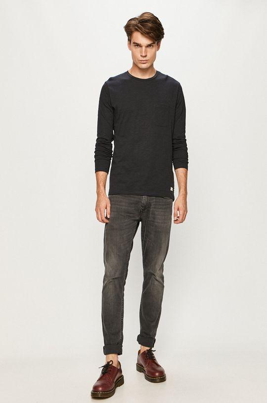 Produkt by Jack & Jones - Tričko s dlhým rukávom tmavomodrá