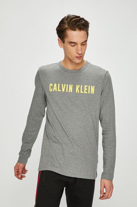 světle šedá Calvin Klein Performance - Tričko s dlouhým rukávem Pánský