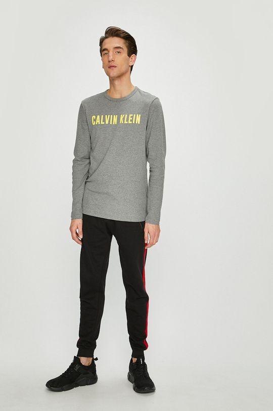 Calvin Klein Performance - Tričko s dlouhým rukávem světle šedá