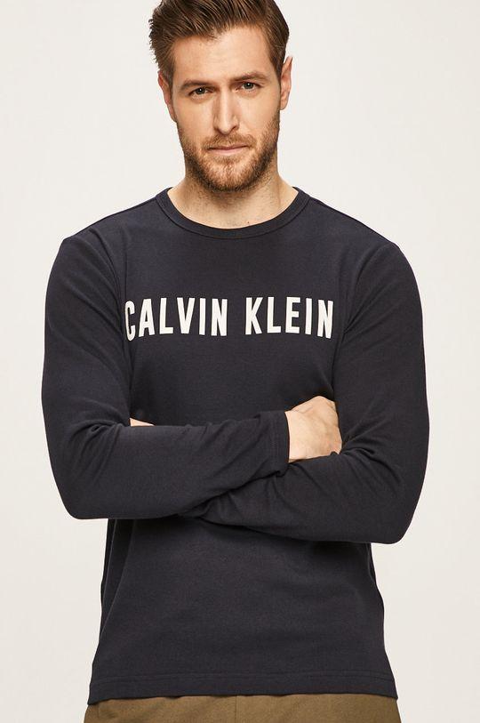 námořnická modř Calvin Klein Performance - Tričko s dlouhým rukávem Pánský