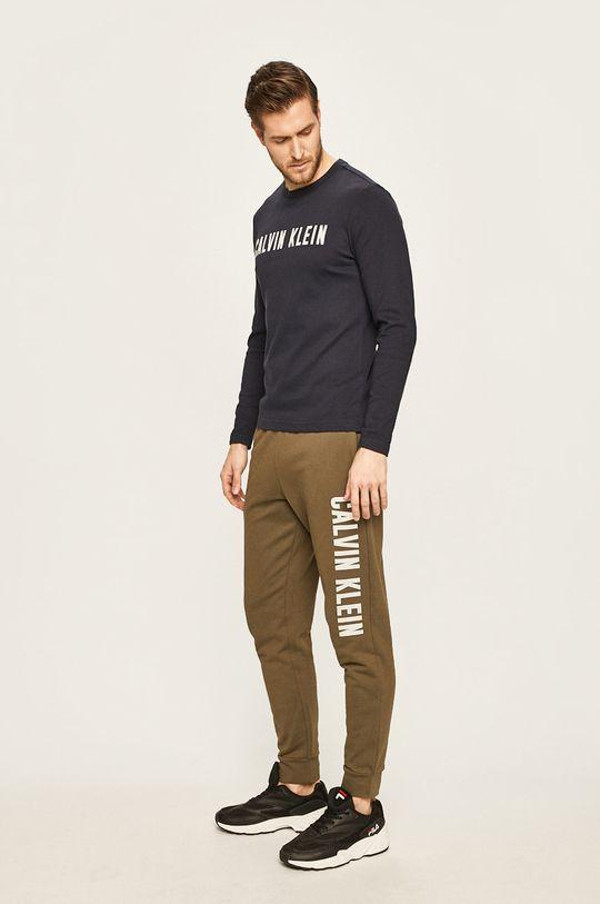 Calvin Klein Performance - Tričko s dlouhým rukávem námořnická modř