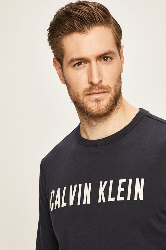 námořnická modř Calvin Klein Performance - Tričko s dlouhým rukávem