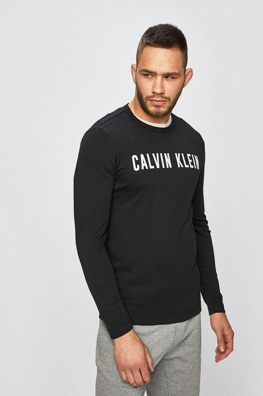 černá Calvin Klein Performance - Tričko s dlouhým rukávem Pánský