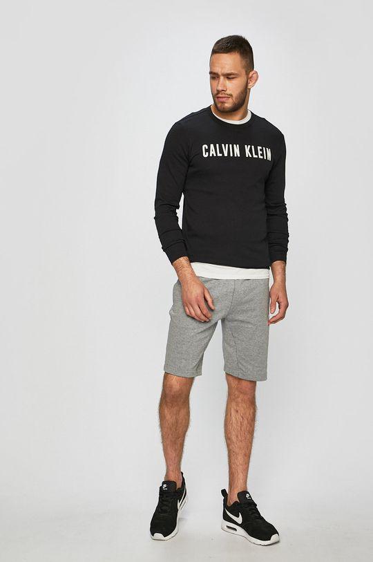 Calvin Klein Performance - Tričko s dlouhým rukávem černá