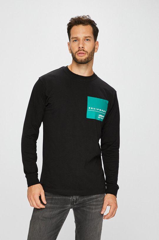 черен adidas Originals - Блуза с дълъг ръкав Чоловічий