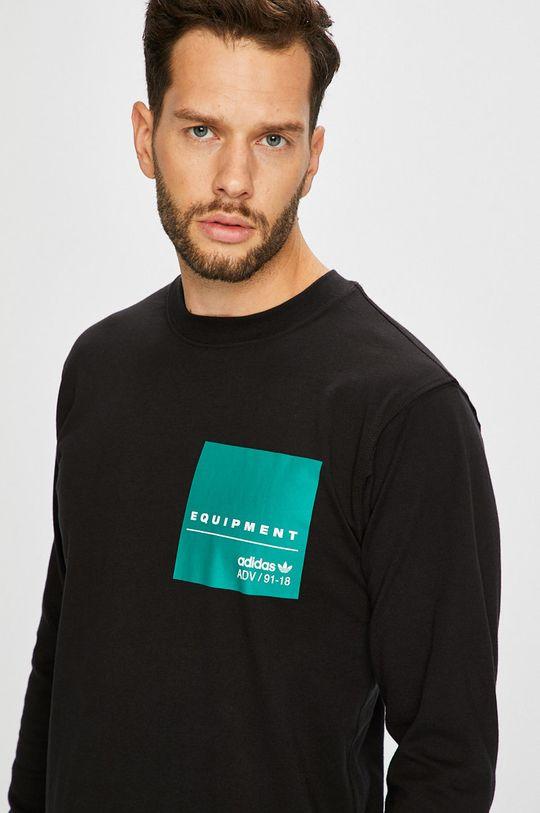черен adidas Originals - Блуза с дълъг ръкав