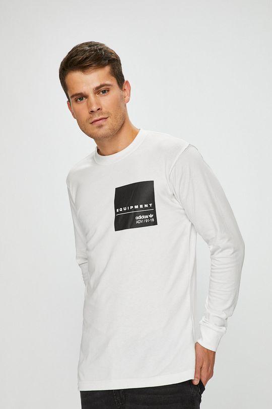 biela adidas Originals - Pánske tričko s dlhým rukávom Pánsky