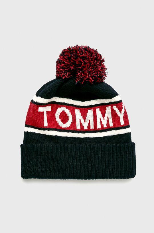 Tommy Hilfiger - Čiapka + šál Happy Holidays tmavomodrá