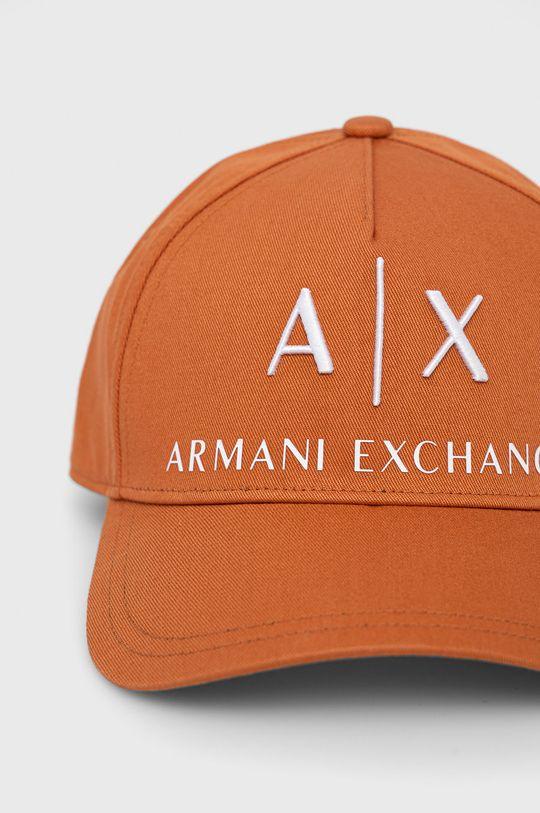 Armani Exchange - Czapka pomarańczowy