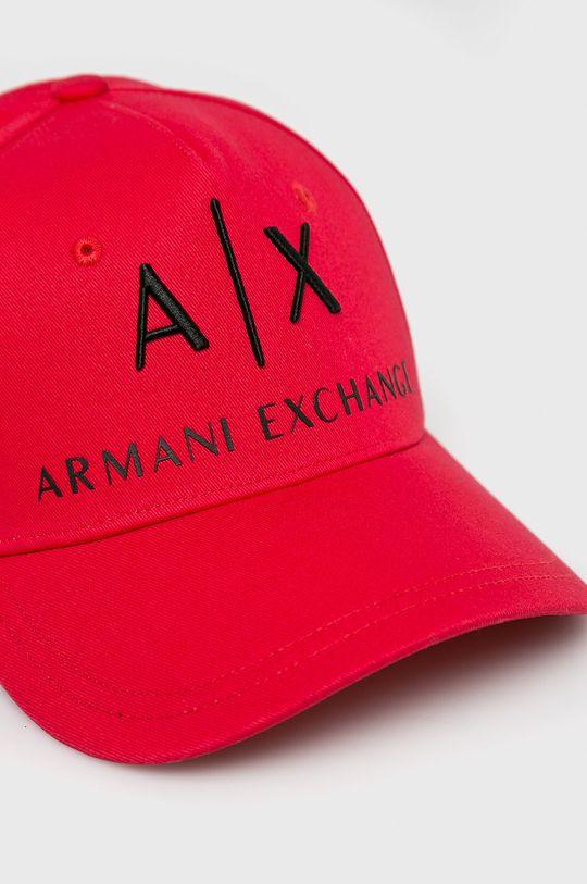 Armani Exchange - Čiapka <p>  Podšívka: 100% Bavlna  Základná látka: 100% Bavlna  Prvky: 100% Prírodná koža</p>