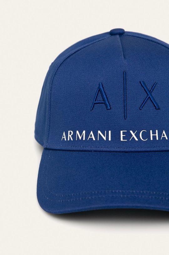 Armani Exchange - Čiapka svetlomodrá
