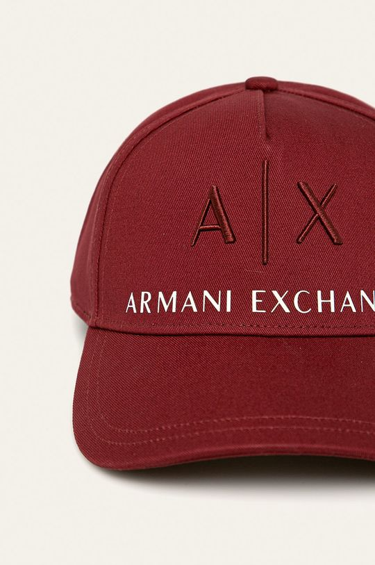 Armani Exchange - Čiapka gaštanová