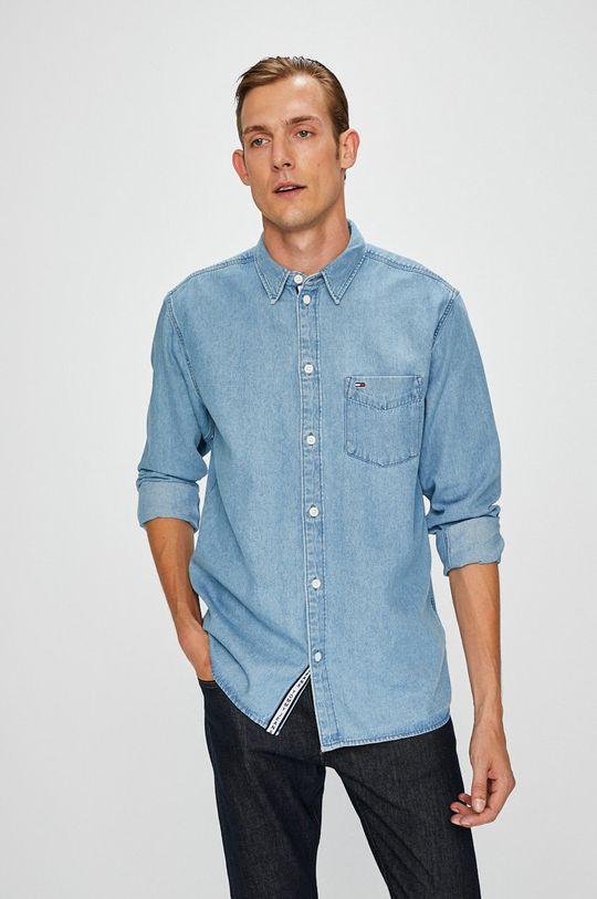 modrá Tommy Jeans - Košeľa Pánsky