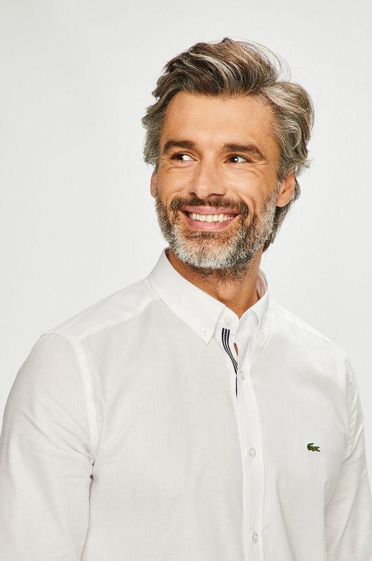 biały Lacoste - Koszula Męski