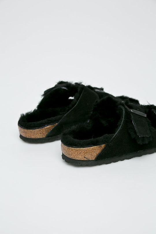 Birkenstock - Kapcie Arizona Fur czarny