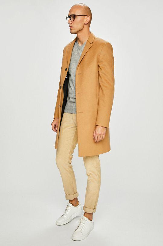Calvin Klein - Kabát Podšívka: 100% Viskóza Hlavní materiál: 10% Kašmír, 90% Virgin vlna