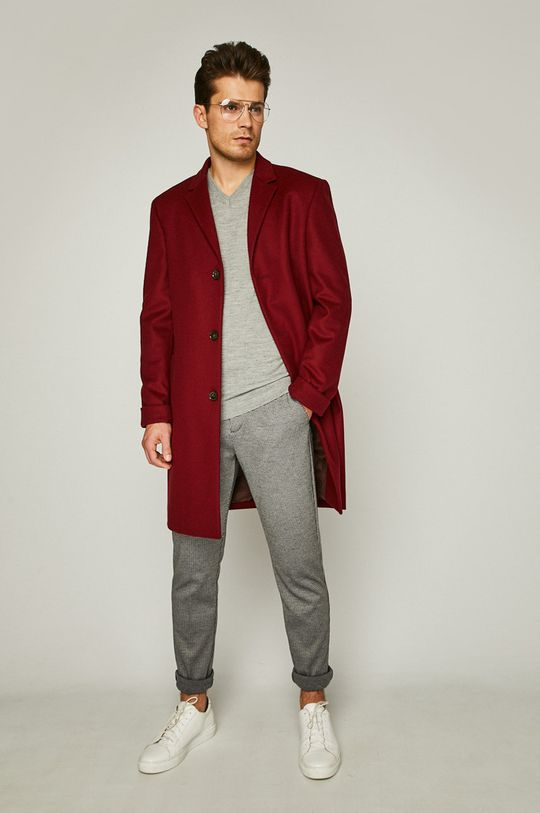 Calvin Klein - Kabát kaštanová