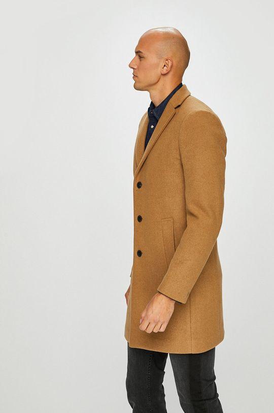 zlatohnědá Premium by Jack&Jones - Kabát Pánský