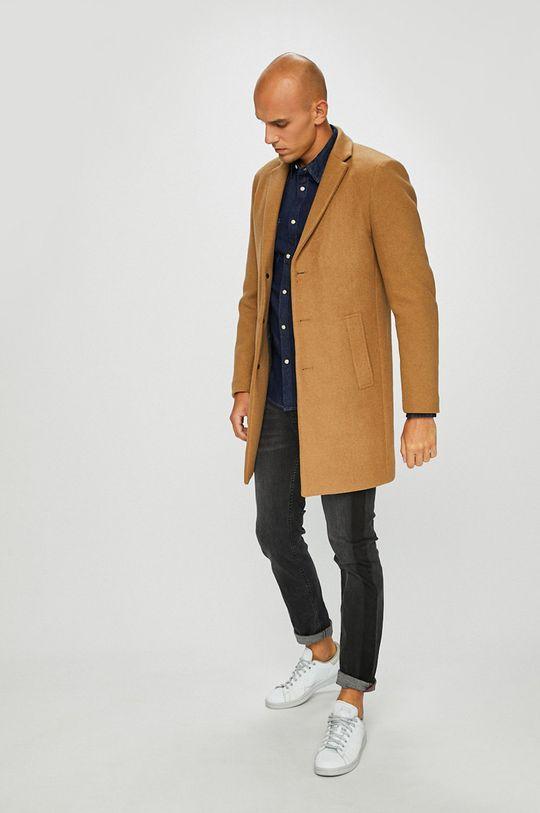 Premium by Jack&Jones - Kabát zlatohnědá