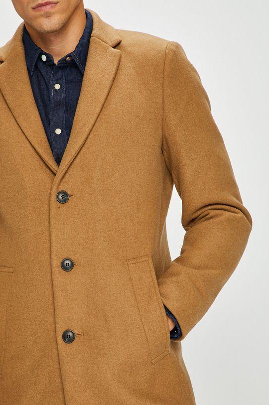 zlatohnědá Premium by Jack&Jones - Kabát