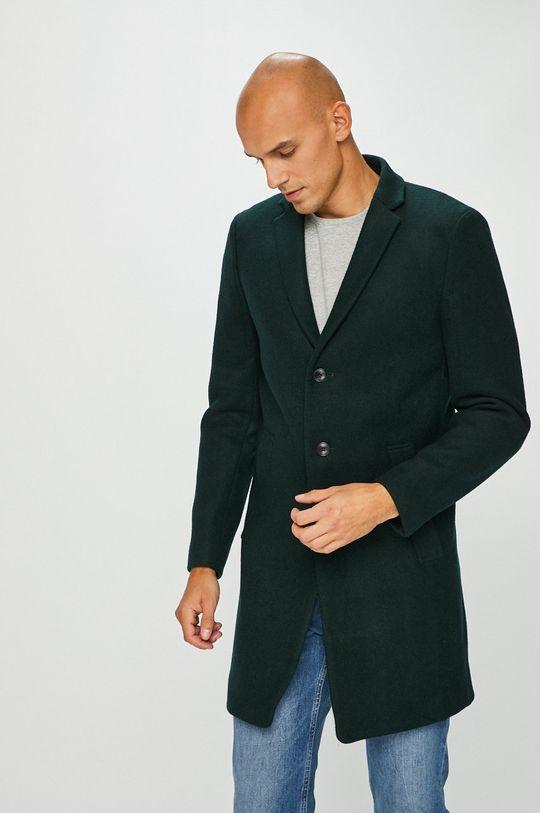 ocelová zelená Premium by Jack&Jones - Kabát Pánský
