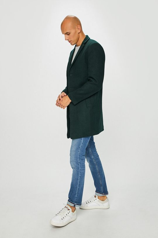 Premium by Jack&Jones - Kabát ocelová zelená