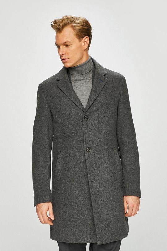 šedá Pierre Cardin - Kabát Pánský
