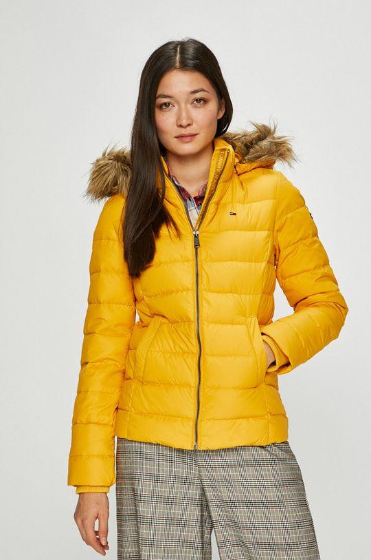 žlutá Tommy Jeans - Péřová bunda Dámský
