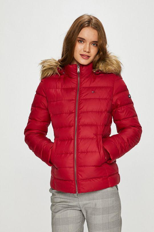 червен Tommy Jeans - Пухено яке