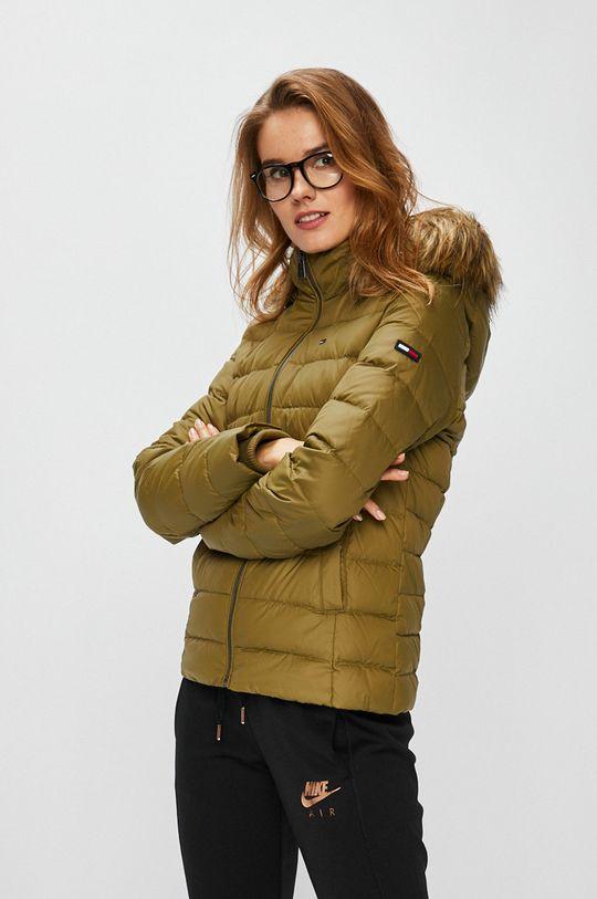 zelená Tommy Jeans - Péřová bunda