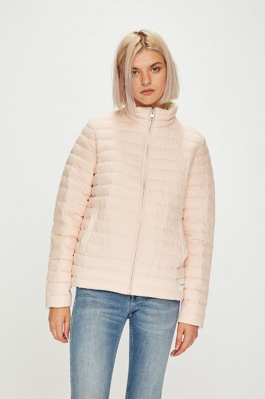 pastelově růžová Calvin Klein Jeans - Bunda oboustranná péřová Dámský
