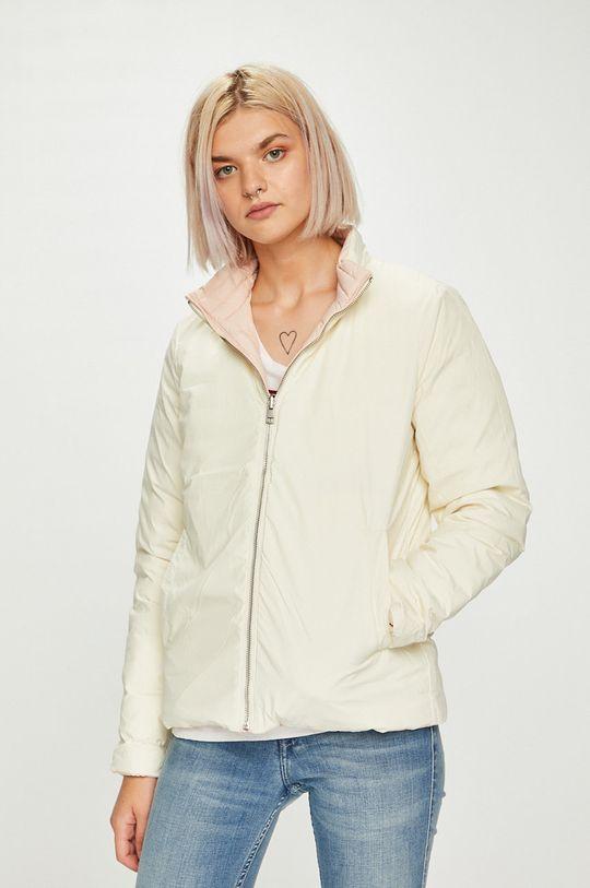 Calvin Klein Jeans - Bunda oboustranná péřová pastelově růžová