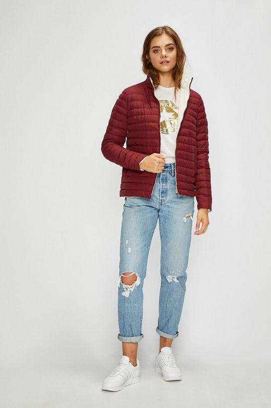 mahagonová Calvin Klein Jeans - Bunda oboustranná péřová