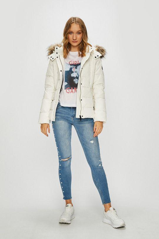 Pepe Jeans - Пухено яке Olivia бял