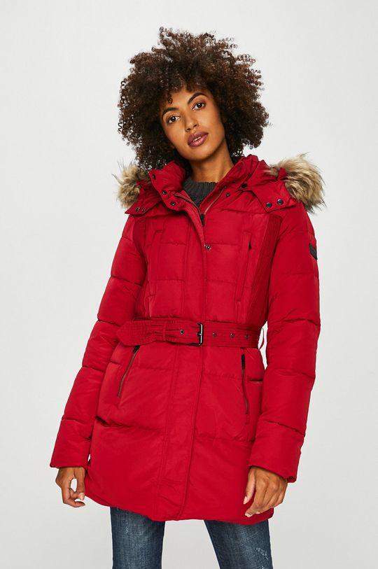 červená Pepe Jeans - Péřová bunda Dámský
