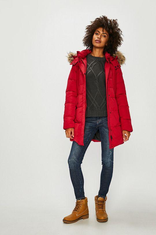 Pepe Jeans - Péřová bunda červená