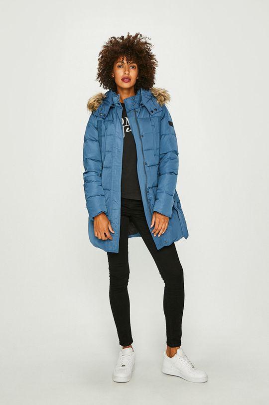 Pepe Jeans - Péřová bunda modrá