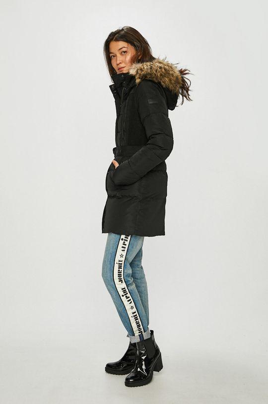 Pepe Jeans - Péřová bunda černá