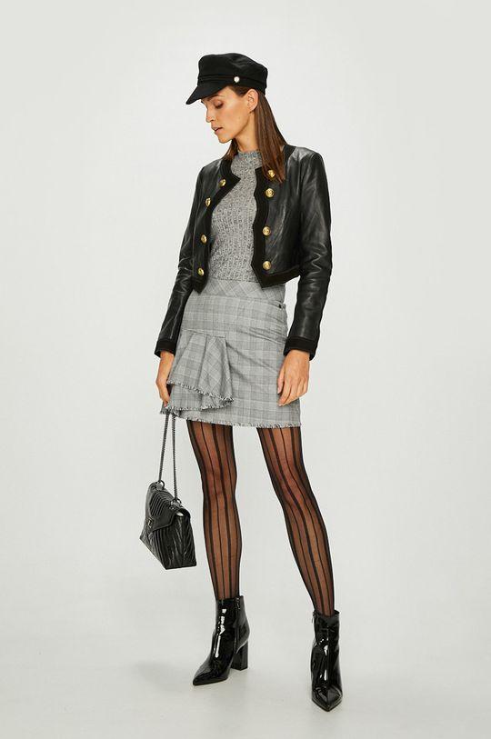 Pinko - Kožená bunda černá