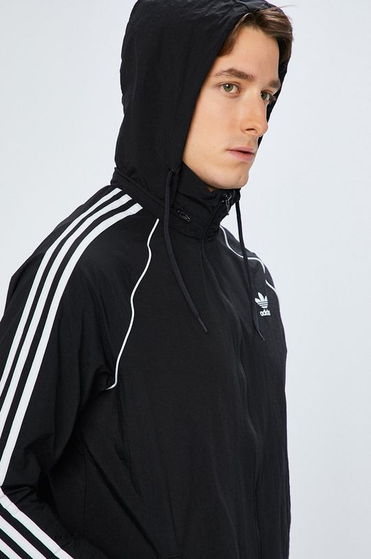 fekete adidas Originals - Rövid kabát