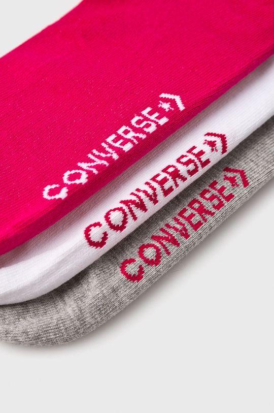 Converse - Ponožky (3-pack) orchidejová