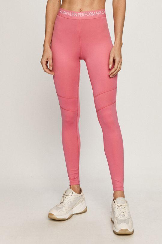 ostry różowy Calvin Klein Performance - Legginsy Damski
