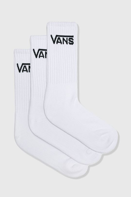 biela Vans - Ponožky (3-pak) Pánsky